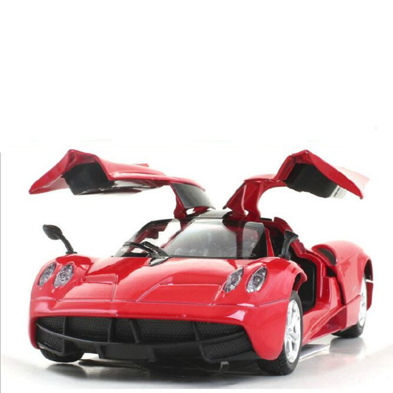 Hot Child Toys Simulation Alloy 1:32 Pagani Die Cast Car Model Simulation Acoustic Lighting Back To Power Christmas present x50(China (Mainland))