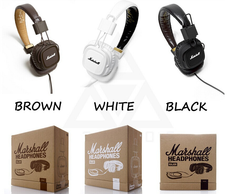 Original Marshall Major Leather Noise Cancelling Deep Bass Stereo Monitor DJ Hi-Fi Headphones Headset W/ Remote(China (Mainland))