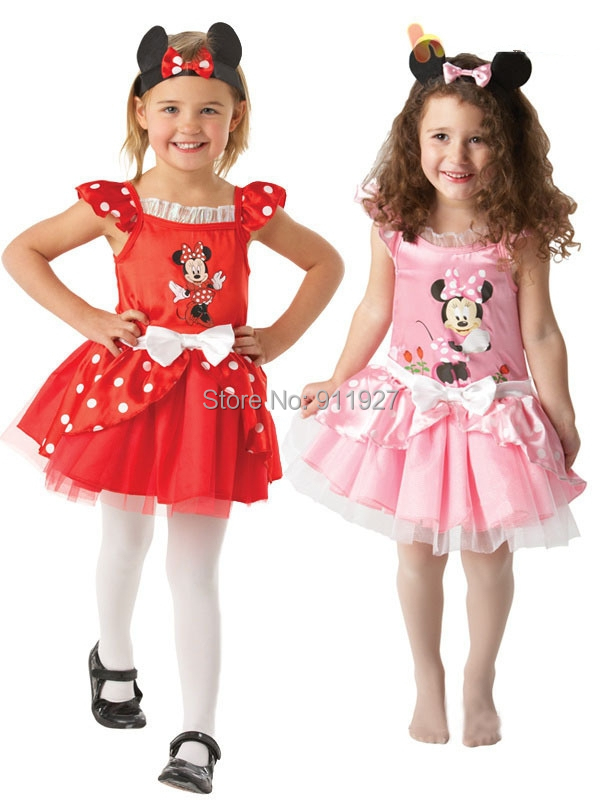 2015 summer new arrival girl cartoon dress pink minnie high quality party princess kids petti roupa infantil for 3-7Y retail(China (Mainland))