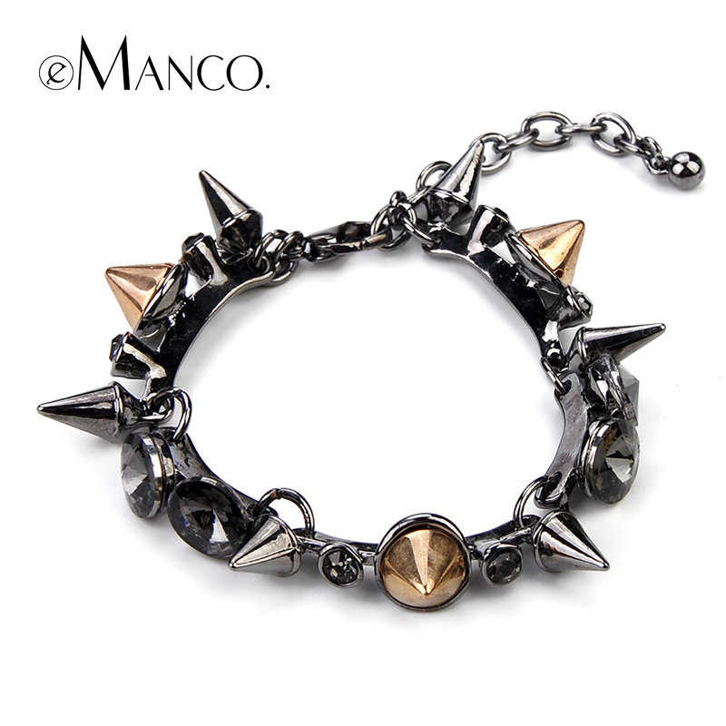 2015 New Style Fashion Design Restoring Ancient Ways Female Rivets Bracelet Nail Pulseira eManco Create Bangles Free Shipping(China (Mainland))