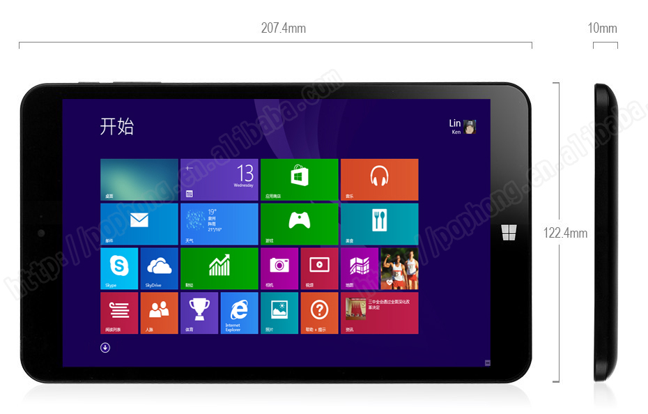 CHUWI VI8 Dual Boot Windows 8 1 8 Inch 32GB 2GB Tablet Pc Z3735F 1 83