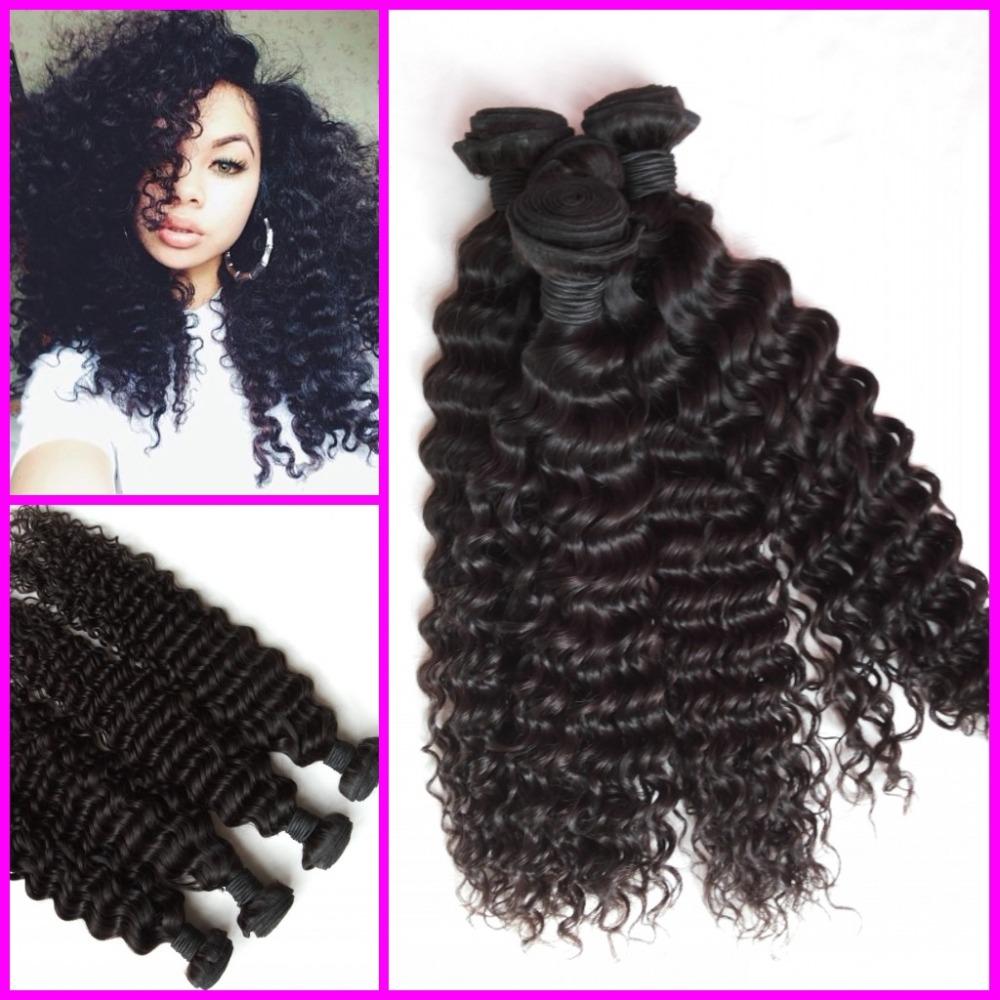 Mongolian virgin deep curly hair weaves 300g per lot 8A high grade human hair weft Free ship by DHL<br><br>Aliexpress
