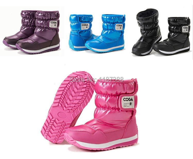 Top Brand children shoes ! 2014 winter kids boots boys&girls waterproof slip-resistant fashion - Elegant girl NO 1 store
