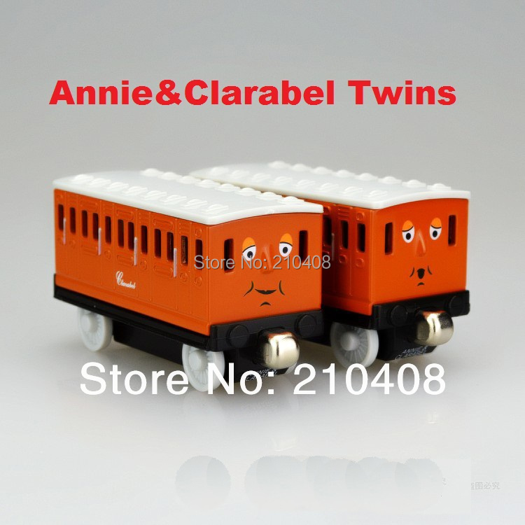 Thomas & Friends metal train Models Educational Toys collections kids gifts Annie&Clarabel Train Carriage 2014 newest(China (Mainland))