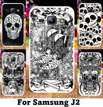 Black &white Cool Skull Pattern Painting Phone Case For Samsung Galaxy J2 J200 J200F J200H J200G J200M J200FN Telephone Skin
