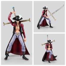 1pcs One Piece VAH HEROES DRACULE MIHAWK New World Anime Figuarts Zero Sanji Luffy Trafalgar PVC 20CM Boxed Limit Garage Toys
