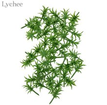 Lychee 50pcs Model Scenery Grass Ground Cover Plants Architecture Zen Garden Decor Figurines Miniatures Home Decoration(China)