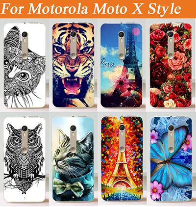 Rose Flowers Hot Pattern Design cover For Moto X Style XT1572 XT1570 case motorola x style Fashion Painting Free Shipping(China (Mainland))