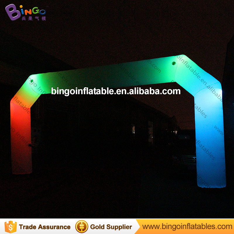 8m multicolors Inflatable arch led lighting party/events BG-A1360 toy
