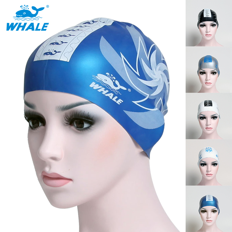Whale Brand Reversible Silicone Swimming Cap Swimming Hat With Two Sides Printing(China (Mainland))