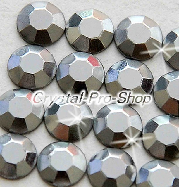 1440 pieces Grey 2mm 6ss ss6 Faceted Hotfix Rhinestuds Iron On Round Beads new Aluminum Metal Design Art DIY (u2m-Grey-10 gr)