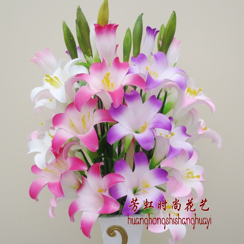 Lily long rod floweryness water lily French flower home decoration flower artificial flower silk flower artificial flower