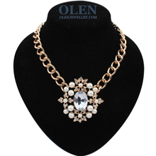 Hot Sale 2015 Luxury Brand gold Chain Choker Necklace Kors Letter Women Necklace collar long colar free shipping(China (Mainland))