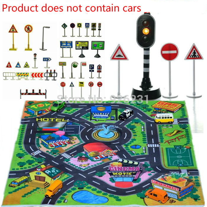 2016 Rushed Promotion Carro Children's Toys Scene Car Parking Lights Set Of Traffic Signs Signpost For Kids Gift Educational Toy(China (Mainland))
