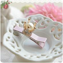 Buy Pearl Flower Golden Crown Girls Hair Clip Hairpin Baby Hair Accessories Kids Children Headwear kk1201 for $1.27 in AliExpress store