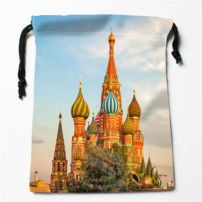 v#bH69 New Russia Moscow Houses Custom Printed receive Bag Compression Type drawstring bags size 18X22cm 7=12JvH67(China (Mainland))