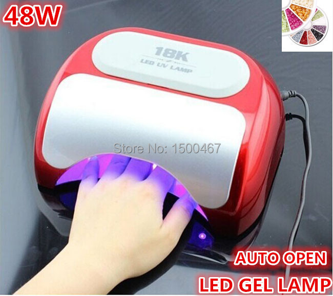 48W high power nail gel lamp for hand led nail care art machine tools with US AU EU UK plug(China (Mainland))