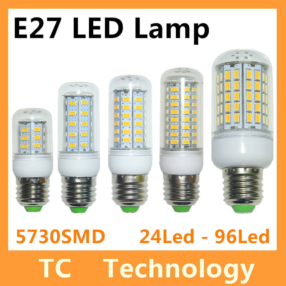 Bombillas LED Bulb E27 SMD 5730 lamparas LED Light G9 24 36 48 56 69 72 96LED Lampada E14 LED Lamp E27 220V Ampoule Candle Luz(China (Mainland))