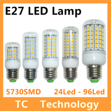 Bombillas LED Ampoule E27 SMD 5730 lamparas LED G9 24 36 48 56 69 72 96LED Lampada E14 LED E27 220 V Ampoule bougie Luz(China (Mainland))