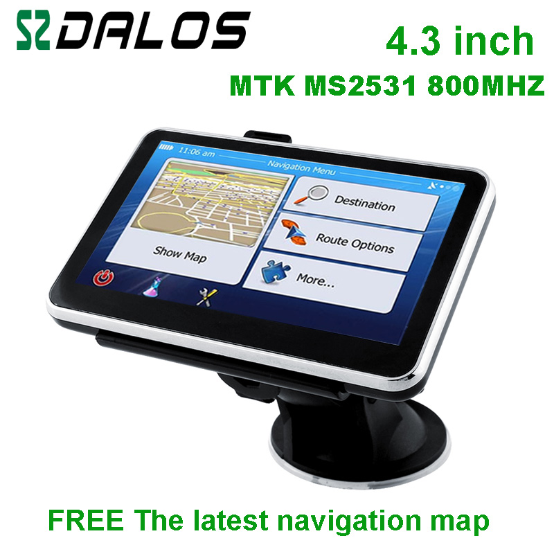New design 4.3 inch gps navigation system with world map for choice(China (Mainland))