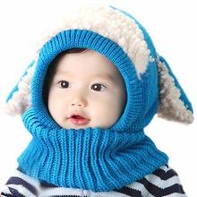 Best selling Toddler Kids Beanies Hats Coif Hood Kintted Woolen Scarves Caps Winter Warm Cap