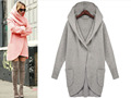 Wool Blends New 2016 women winter coat Casual solid With hood down coat casaco feminino Long