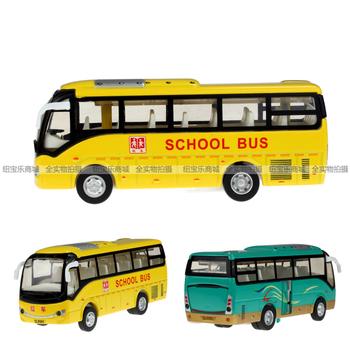 School bus acoustooptical WARRIOR alloy car delicate school bus model alloy school bus