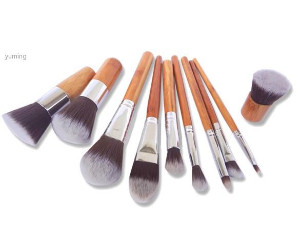 Горячая распродажа 11 шт. щетку комплект деревянной ручкой косметическая тени для век фонд корректор b7