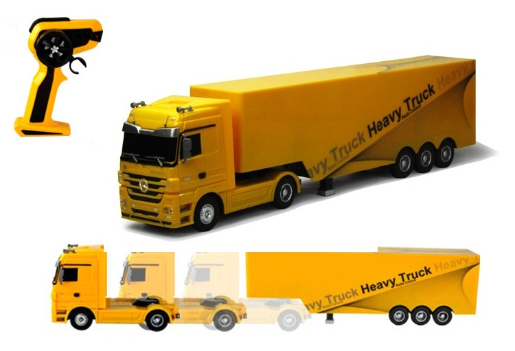 Detachable RC truck 1:32 2.4G rc container truck engineering cartage vehicle toy container separated for kids gift(China (Mainland))