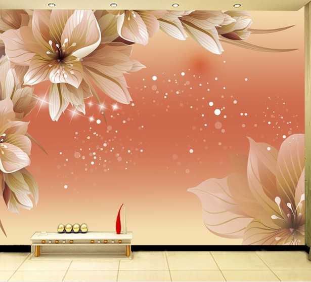 Custom dining wallpaper art wall large mural 3d wall paper for Wallpaper home improvement questions