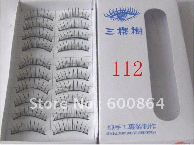 50pairs 112# Fashion Eyelashes eyelash extension False Eyelashes Fake Eyelashes artificial eyelash Hand made Eye lash