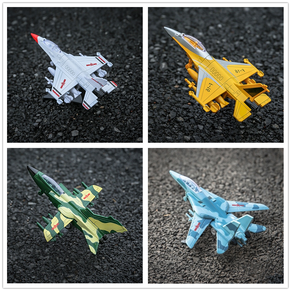 1pcs Planes Fighter TOY Airliner F16 F35 Thunder Pull Sound Light High Quality Metal ABS 18cm Mini Collection Model Baby Toy(China (Mainland))