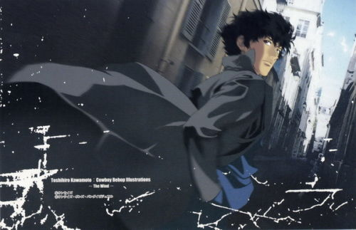 24X36 INCH / ART SILK POSTER / ken 027 Cowboy Bebop - Spike Jet Fight Japan Anime(China (Mainland))