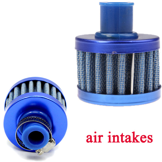 Universal Car Air Filter Cleaner Cold Air Intake Auto Mini 12mm Valve Cover Reusable Oil Catch Crankcase Cold Vent Breather Cone(China (Mainland))