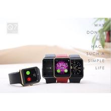Водонепроницаемый Smartwatch Bluetooth красочные с шагомер калорий шаг граф GSM SIM карты памяти часы для Iphone Android телефон Q7