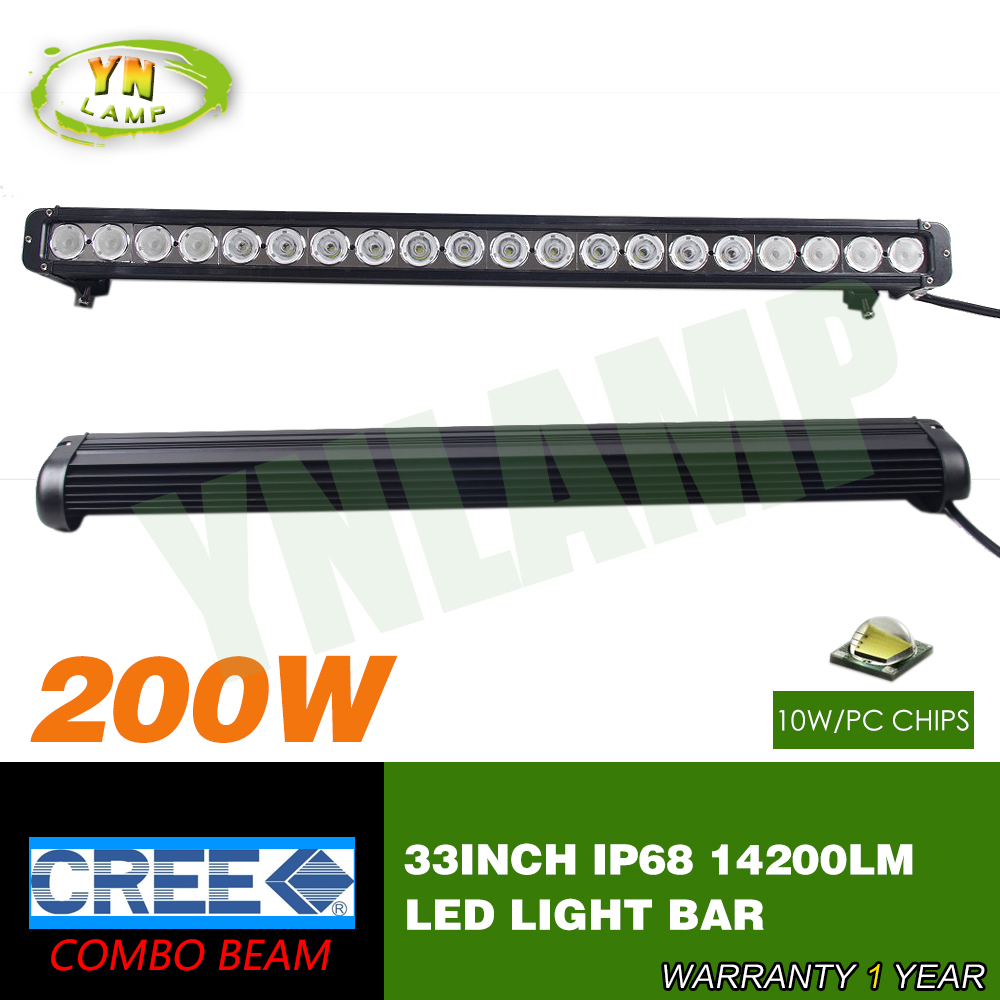 33inch 200w CREE single row Led Light Bar Driving Offroad Light Spot/flood/combo 10V- 70V 14200LM for 4x4 ATV UTV USE IP68(China (Mainland))