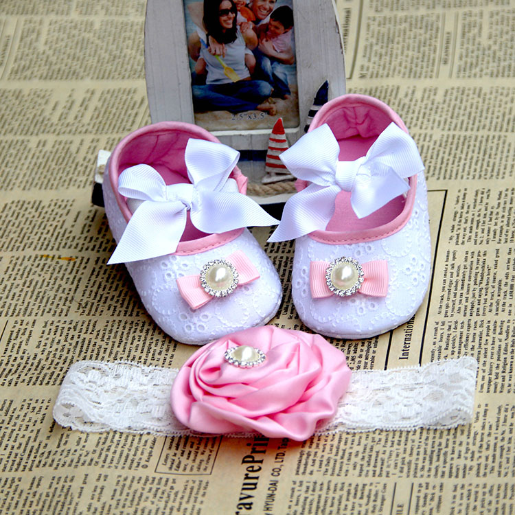 kids accessories/pearl crown baby boots fashion shabby flowers de bebe,shoes infant girlss shabby flower sapatos infantis menin(China (Mainland))
