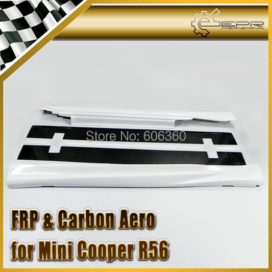 For BMW Mini Cooper DUELL R56 2011-2014 FRP Fiber Glass Side Skirt Under Board 2PCS(China (Mainland))