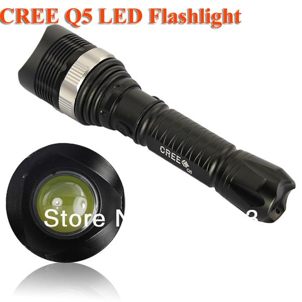 Promotion CREE Q5 LED Light Lamp Flashlight Torch 500Lumens Wholesale& Retails 100% Tested before shipment Free Dropship(China (Mainland))
