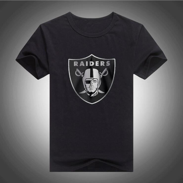 Free Shipping mens t shirts RAIDERS LOGO print T-shirt 100% Cotton short sleeves tee shirts 572(China (Mainland))