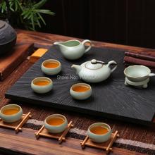 9 Pcs Tian Qing Ru Kiln Celadon Ware Chinese Kungfu Tea Set & Gift Box