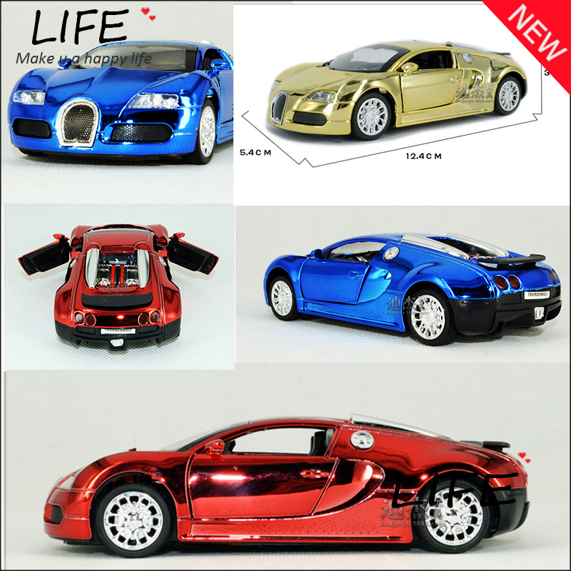 Hot Sale Emulational Veyron Car Model For Kid Toys Wholesale Flashy Golden Car For Collect Hot Wheels 1:32 Christmas Gift(China (Mainland))