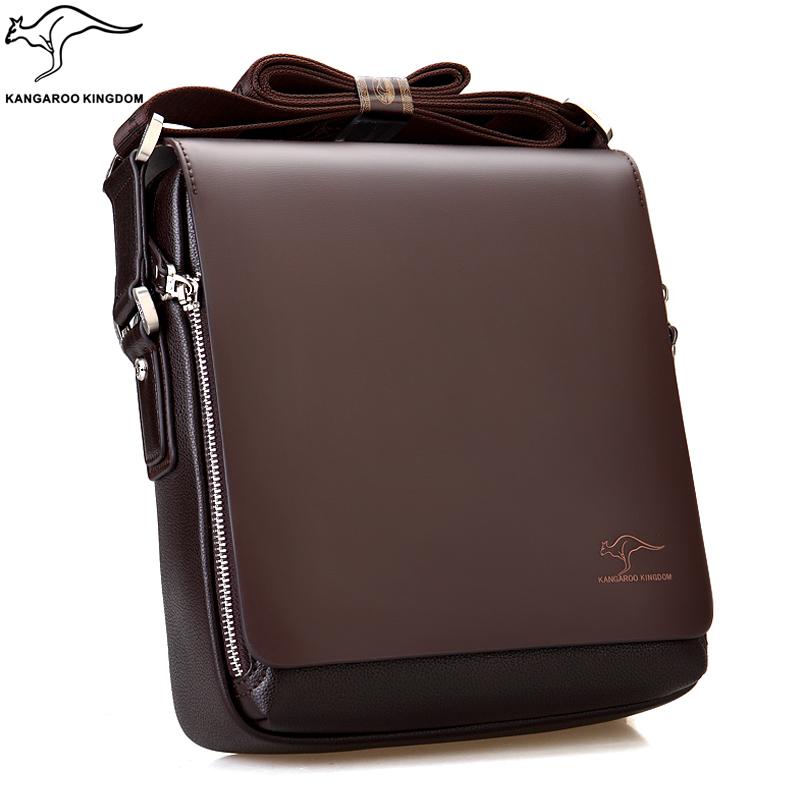 Fashion Kangaroo Mens Leather Crossbody Shoulder Messenger Bag Briefcase 46