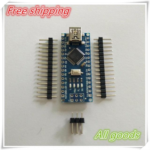 Free shipping ! 10PCS Nano 3.0 controller compatible for arduino nano CH340 USB driver NO CABLE nano v3.0