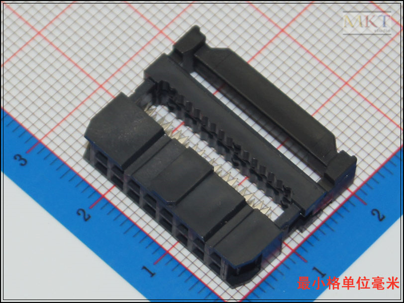 10Pcs Female 2x8 16P 2.54mm Pitch Spacing IDC Box Pin Header Shrouded Connector, For Flat Ribbon Cable, Free shipping<br><br>Aliexpress
