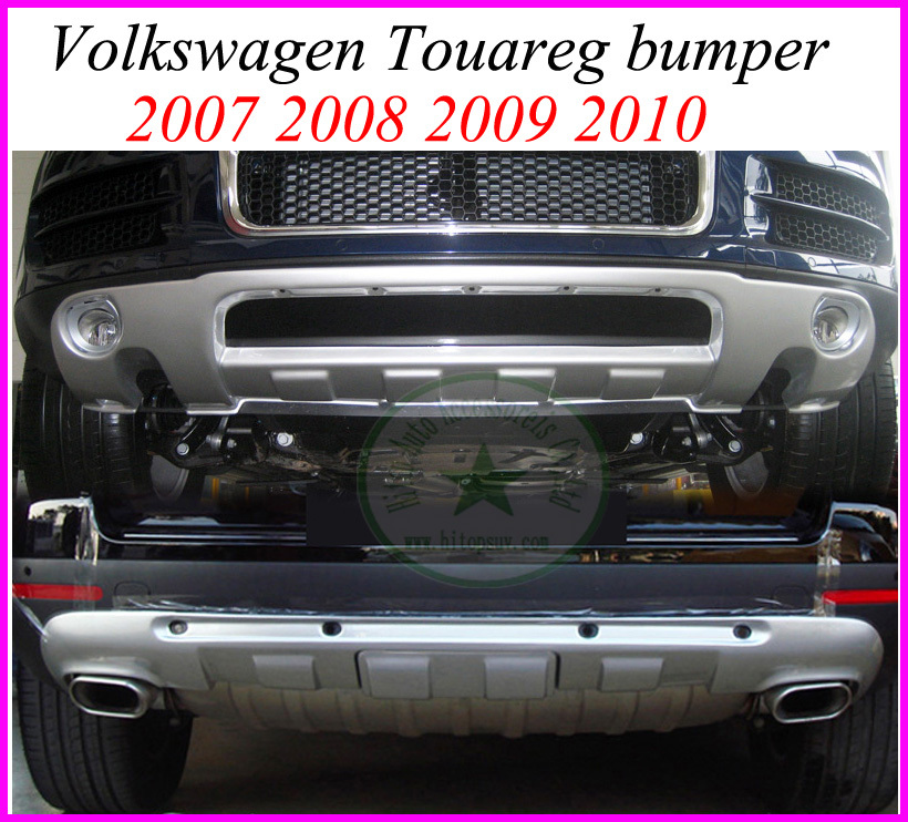 Bumper for Volkswagen Touareg 2007 2008 2009 2010 / old Touareg skid plate/bumper guard, (front+rear), 2pcs, ABS material<br><br>Aliexpress