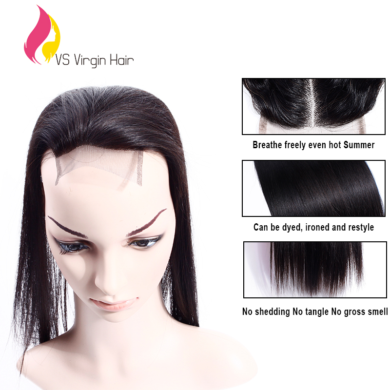 Dhl Free Shipping Best Virgin Brazilian Lace Closure Straight Free Middle 3 Way Part Unprocessed Human Hair Slik Lace Closure<br><br>Aliexpress