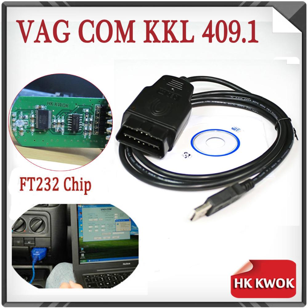 2015 VAG-COM 409.1 Fidi FT232 FT232RL Chip Vag Com 409.1 KKL OBD 2 USB VAG409.1 Cable Scanner Interface For Audi/VW/Skoda/Seat(China (Mainland))