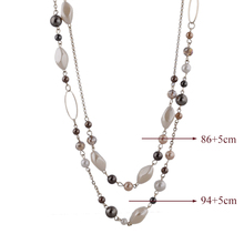Steam Punk Natural Stone Bead Necklace for Woman Vintage Gold Chain Statement Necklaces Maxi Ethnic Jewelry
