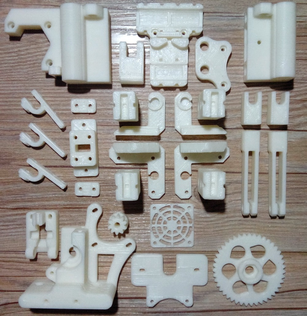 RepRap Prusa Mendel i3 ABS plastic Parts Kit DIY Prusa i3 Acrylic frame 3D Printer printed parts - White Free Shipping(China (Mainland))